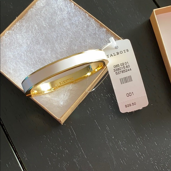 Classic bangle bracelet white and gold